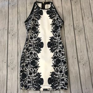 Black and White patterned bodycon dress